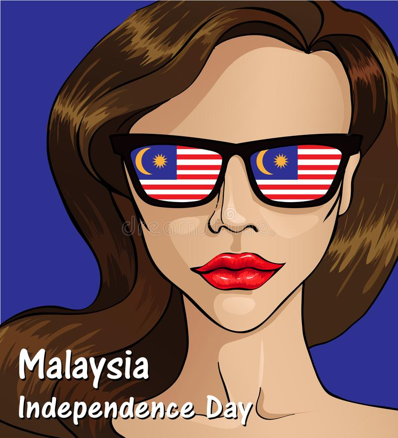 Malaysia Independence day. Malaysia flag. 31 th of August vector illustration