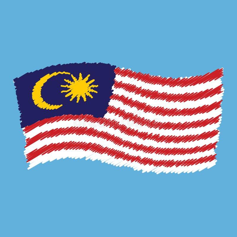 Malaysia - Jalur Gemilang - band av härlighet stock illustrationer