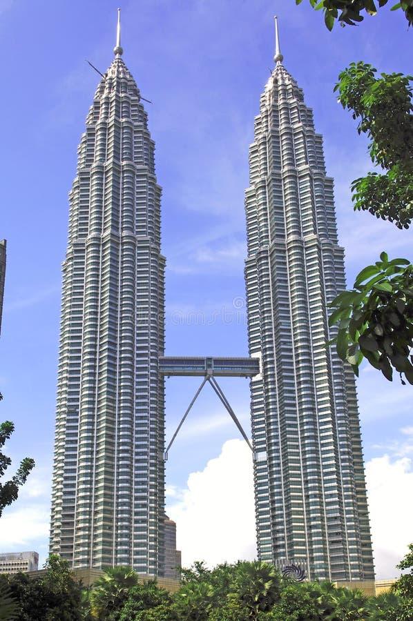 Malaysia, Kuala Lumpur: Torres de Petronas fotografia de stock royalty free