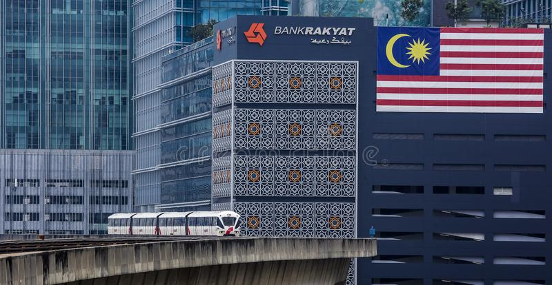 Malaysia LRT train stock photo