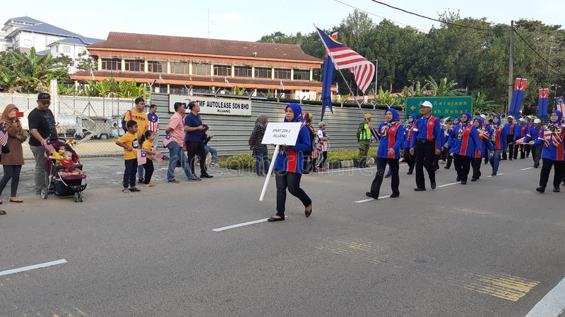 Malaysia national day parade stock photography