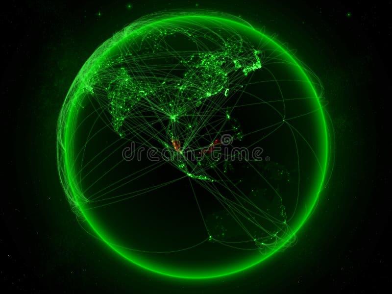 Malaysia på jord med nätverket royaltyfri illustrationer
