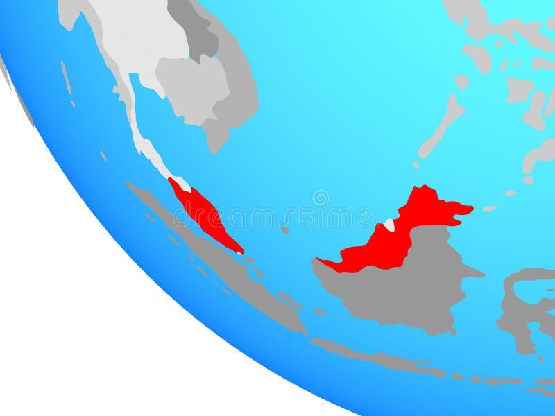 Malaysia på jordklotet vektor illustrationer