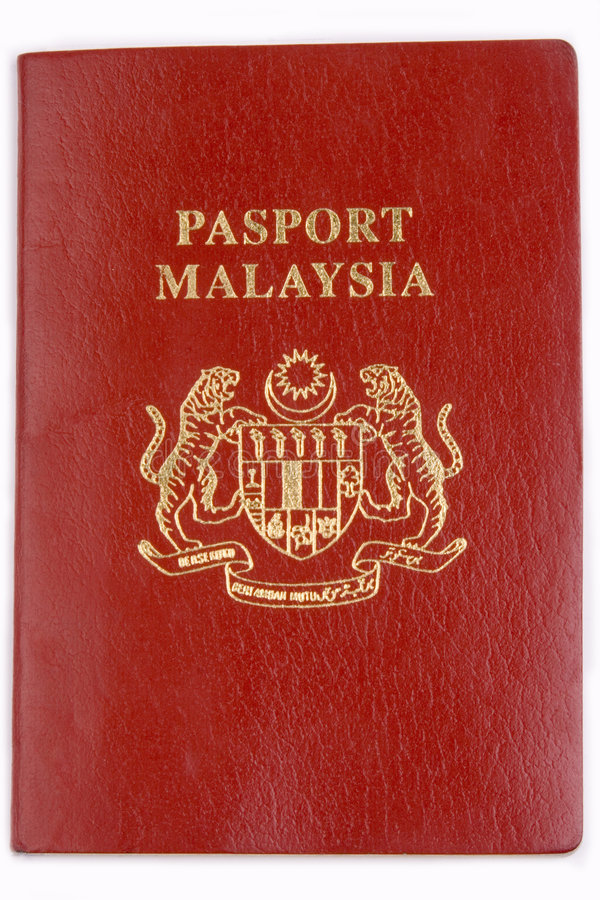 Malaysia Passport. Close up on Malaysia Passport in isolated background stock image