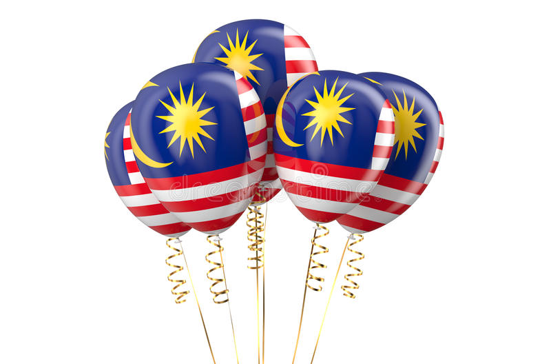 Malaysia patriotic balloons, holyday. Concept royalty free illustration