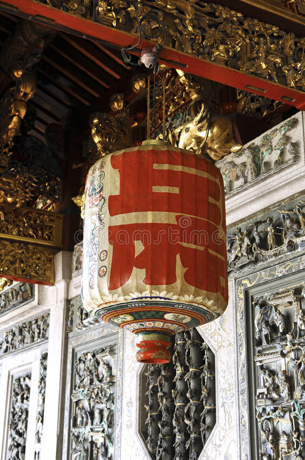 Malaysia, Penang: Chinese temple. Malaysia, Penang: leong san tong khoo kongsi chinese family temple and clan hall; this image is a detail of the outside walls royalty free stock images