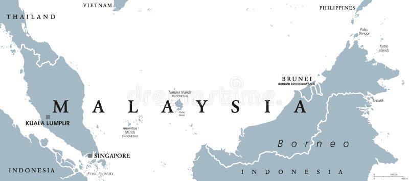 Malaysia political map stock vector Illustration of kuala 82668998