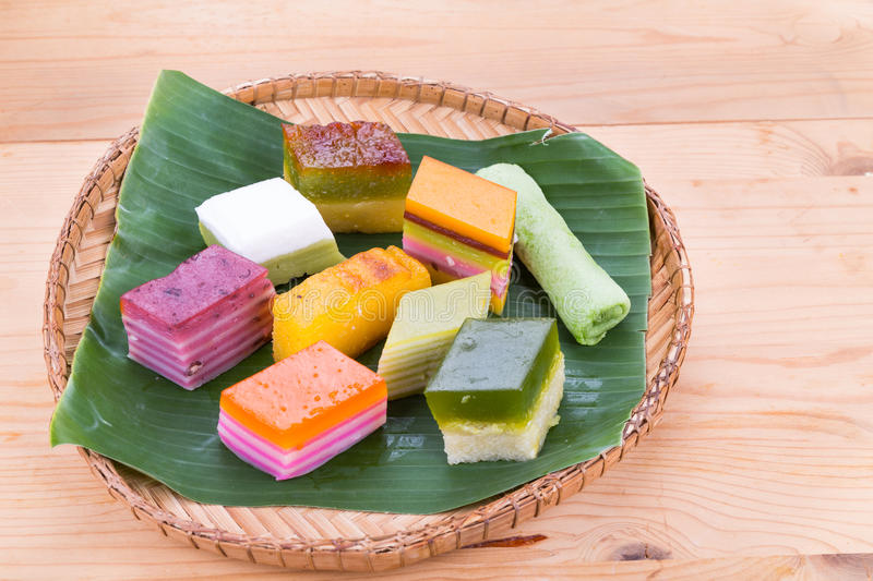 Malaysia popular assorted sweet dessert or known as kuih kueh stock image