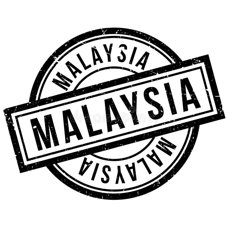 Malaysia rubber stamp. Grunge design with dust scratches. Effects can be easily removed for a clean, crisp look. Color is easily changed royalty free illustration