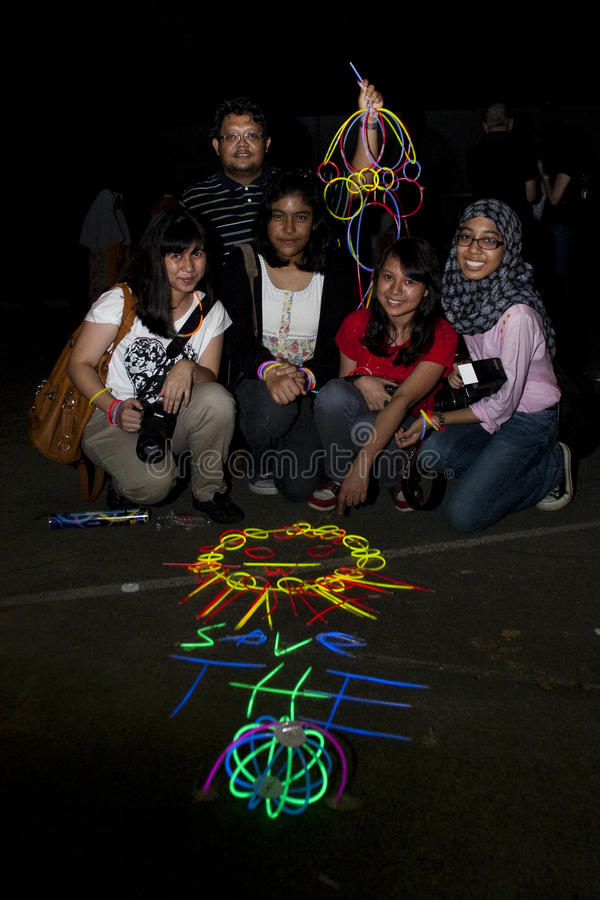 Download Malaysia's Celebrate Earth Hour 2011 Editorial Photography - Image: 18947942