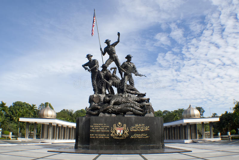 Malaysia's Tugu Negara (National Monument) royalty free stock photos