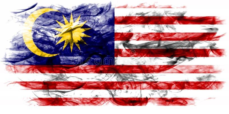 Malaysia smoke flag on a white background.  royalty free stock photo