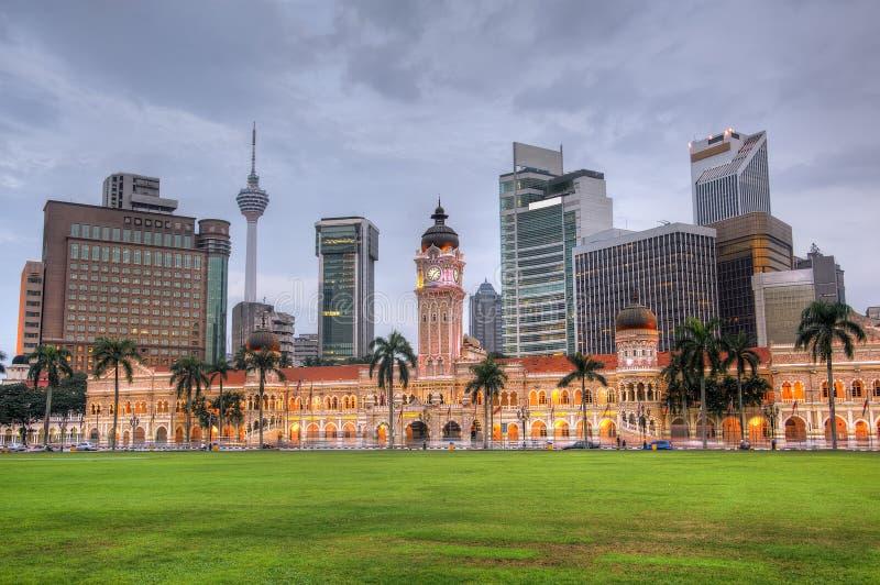 Malaysia-Stadt-Skyline lizenzfreie stockfotos