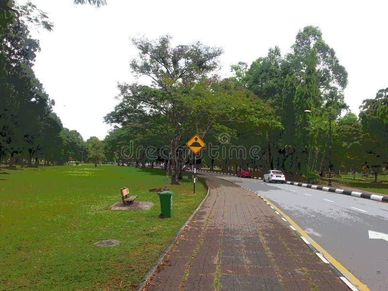 Malaysia Taiping Winter park. One royalty free stock photo