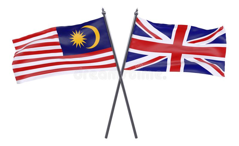 Two crossed flags royalty free stock photo