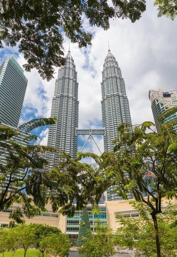Malaysian capital Kuala Lumpur Petronas twin towers. Malaysian capital Kuala Lumpur City Centre KLCC Petronas Twin Towers royalty free stock photos
