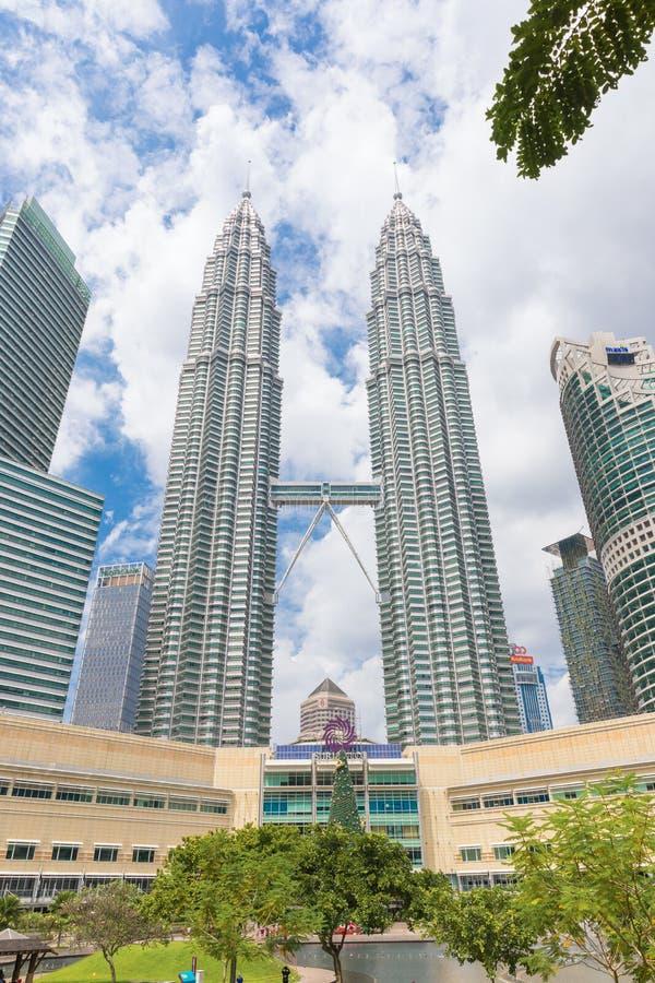 Malaysian capital Kuala Lumpur Petronas twin towers. Malaysian capital Kuala Lumpur City Centre KLCC Petronas Twin Towers stock image