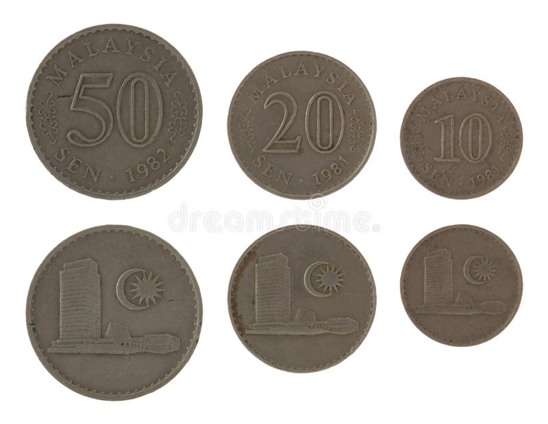 Malaysian Coins Isolated on White