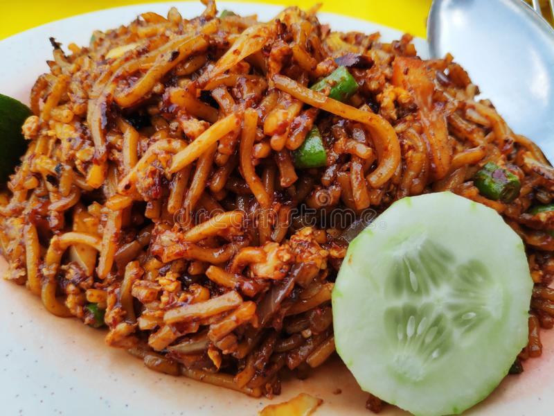 Fried noodle, also know as Mee Goreng Mamak royalty free stock images