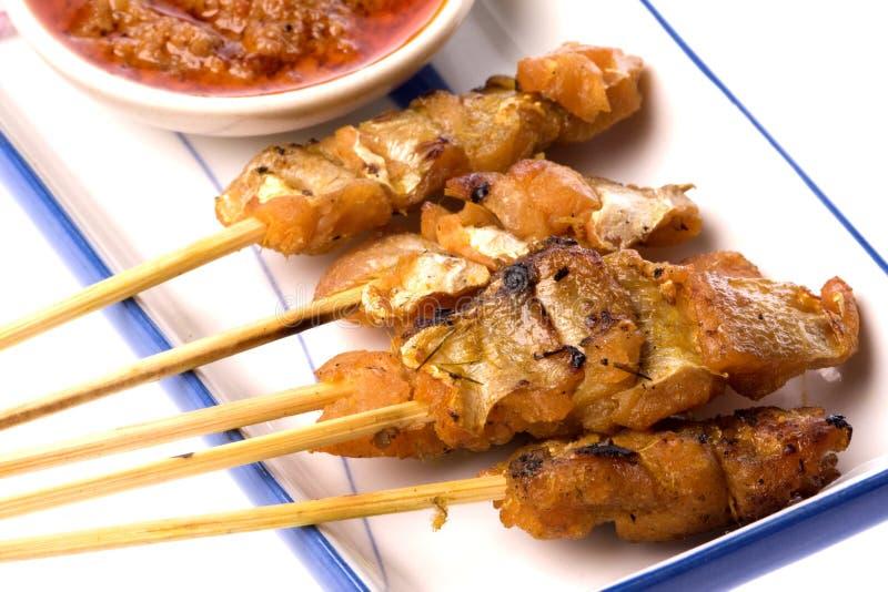 malaysian de poissons satay photo stock
