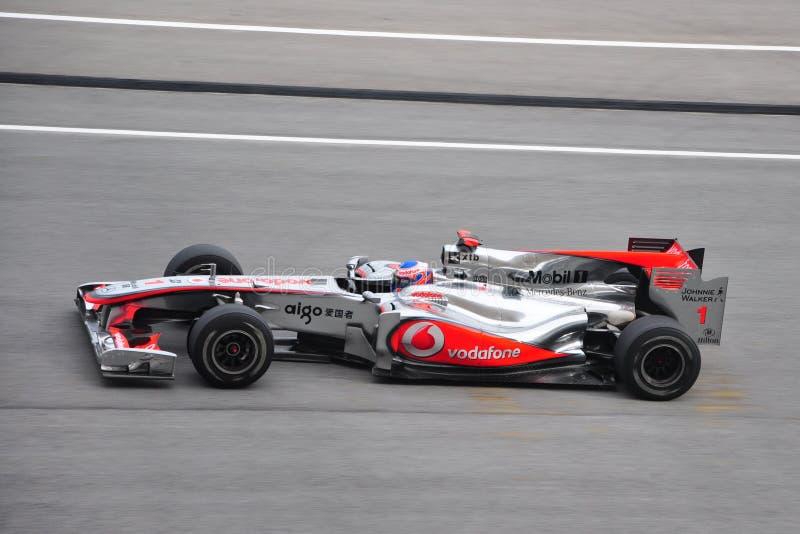Malaysian F1 Prix grande - Jenson Button fotografia de stock