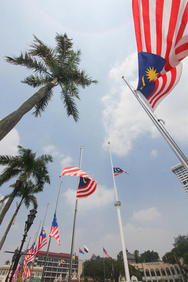 Download Malaysian Flags At Half Mast Following MH17 Incident Editorial Photography - Image: 42673857