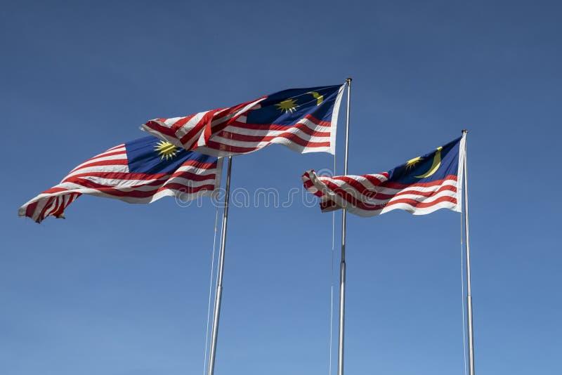 Malaysian flags royalty free stock photos