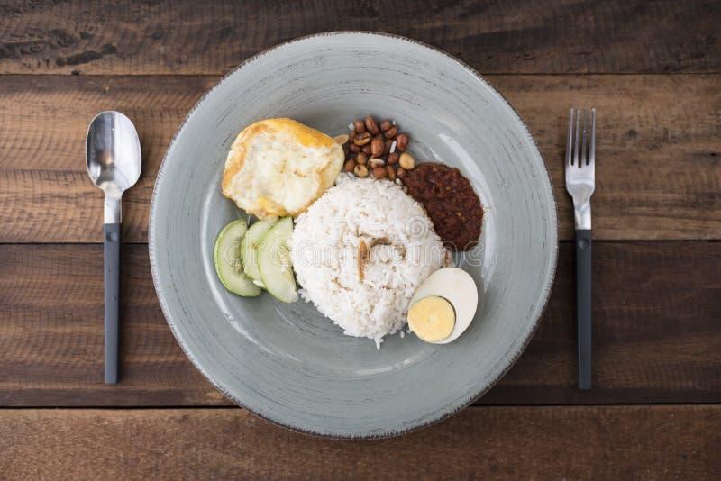 Malaysian food/cuisine nasi lemak royalty free stock image