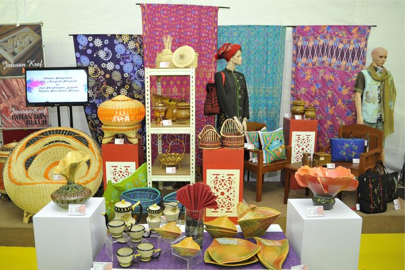 Malaysian Handicrafts products stock image
