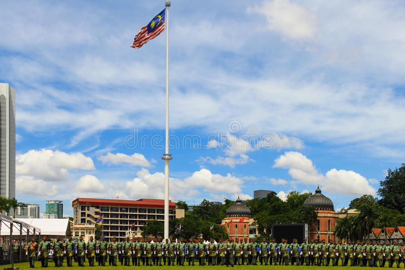Malaysian King's Birthday Parade stock image