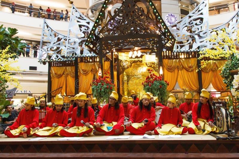 Malaysian Minang Musician Troup. E representing the Malaysian and Indonasian Minang ethic during the Hari Raya Aidilfitri stock photos