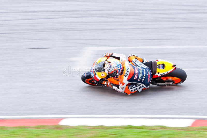 The Malaysian Motorcycle Grand Prix 2011 royalty free stock photo