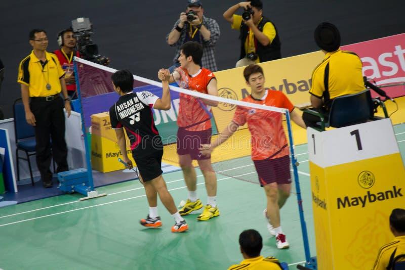 Malaysian Open-Badminton-Meisterschaft 2013 lizenzfreies stockfoto