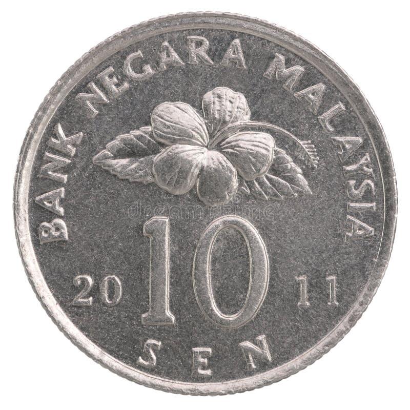 10 Malaysian sen coin stock images