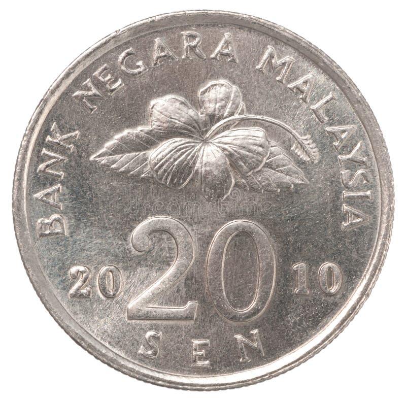 Malaysian sen coin stock photos