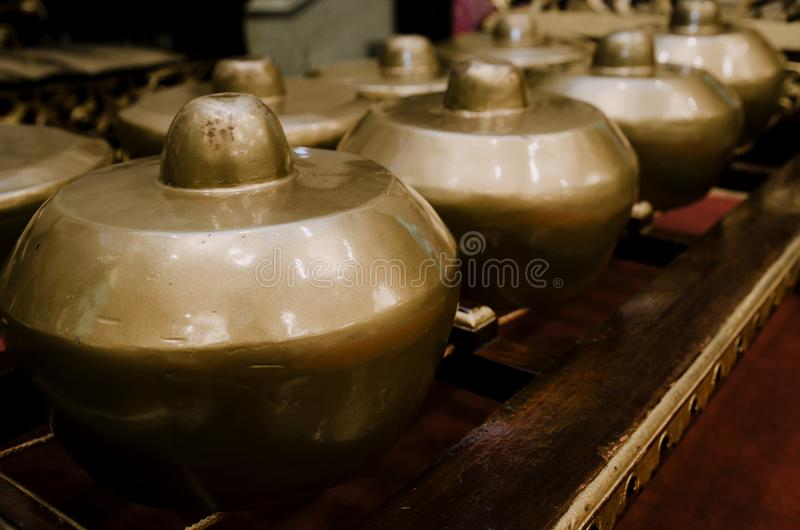 Malaysian traditional music instrument called Gamelan with beaut stock photography
