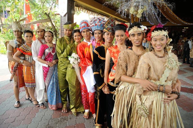 Malaysisch in der traditionellen Hochzeit gesamt stockbilder