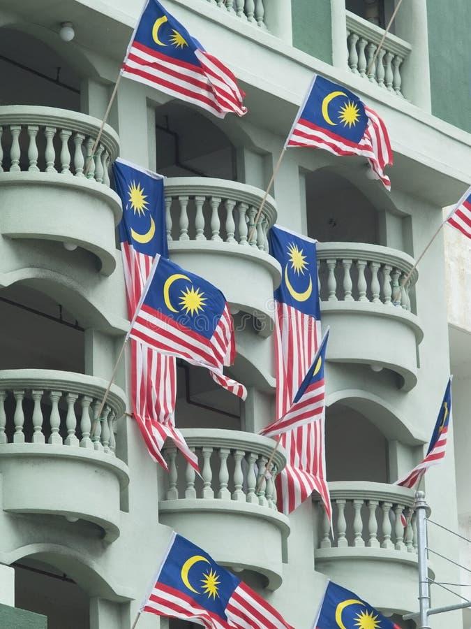 Malaysische Markierungsfahnen stockfotografie