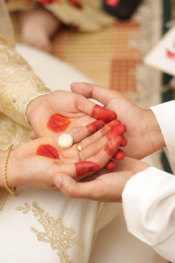 Malaysische traditionelle Hochzeit. stockfoto