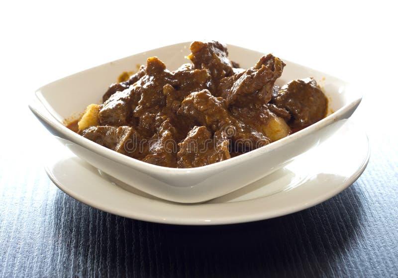 Malaysisches Curryrindfleisch stockbilder