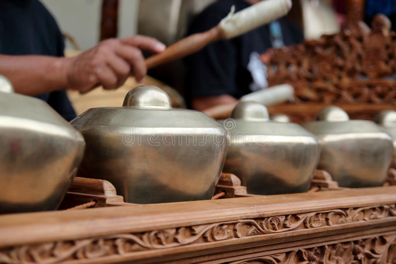 Malaysisches traditionelles Musik-Instrument stockfoto