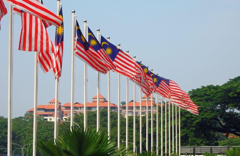 Malaysiska flaggor arkivfoton
