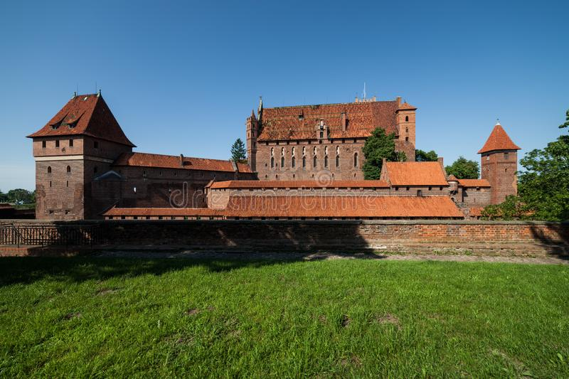 Malbork Castle royalty free stock photography