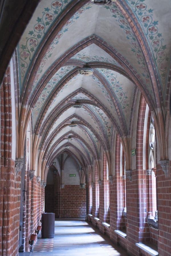 Cross Vault in Malbork Castle, Poland, Medieval Castle Ordensburg near Gdansk royalty free stock photo