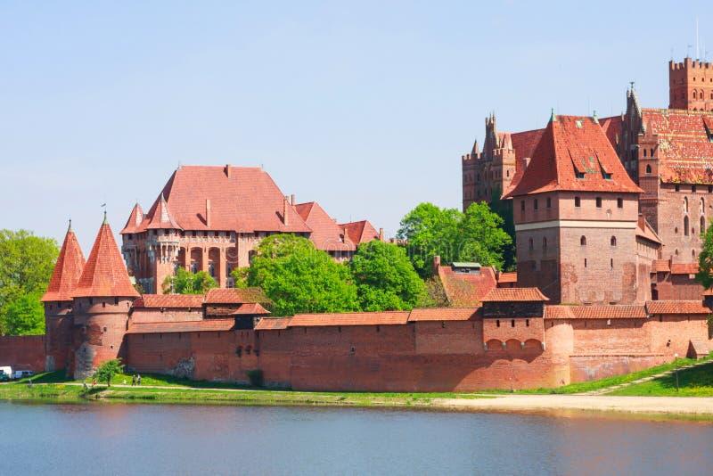 Malbork Schloss lizenzfreie stockfotos