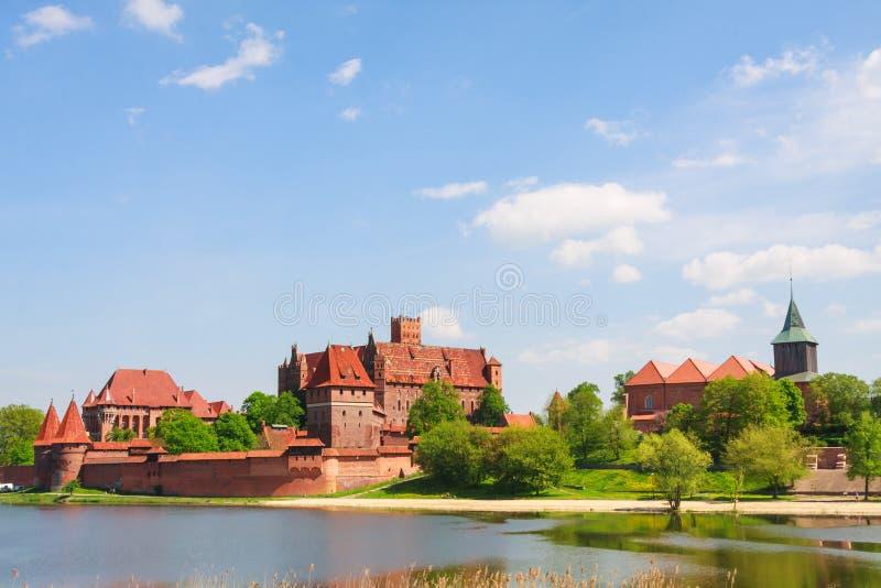 Malbork Schloss, Polen lizenzfreie stockfotos