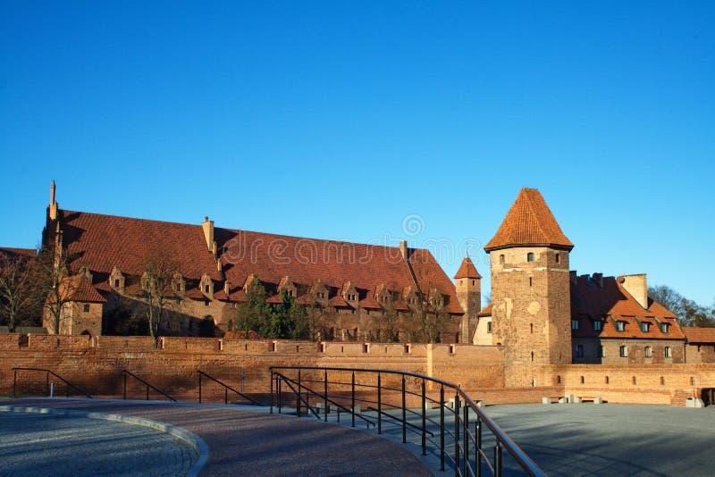 Malbork Schloss in Polen lizenzfreies stockbild