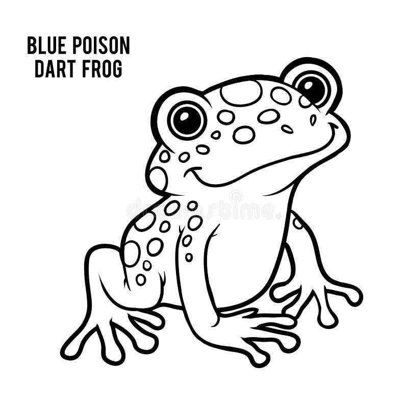 Malbuch, blauer Giftpfeilfrosch lizenzfreie abbildung