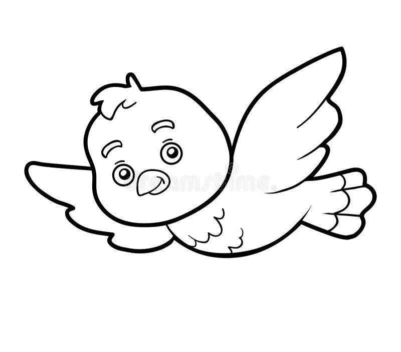 Malbuch, Färbungsseite (Vogel) Vektor Abbildung - Illustration von ...