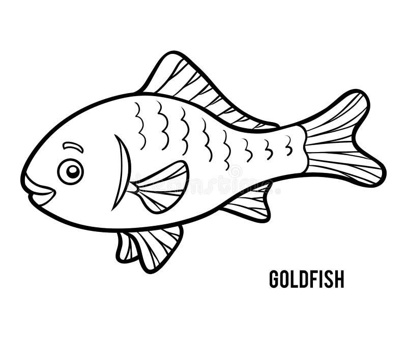 Malbuch, Goldfisch vektor abbildung